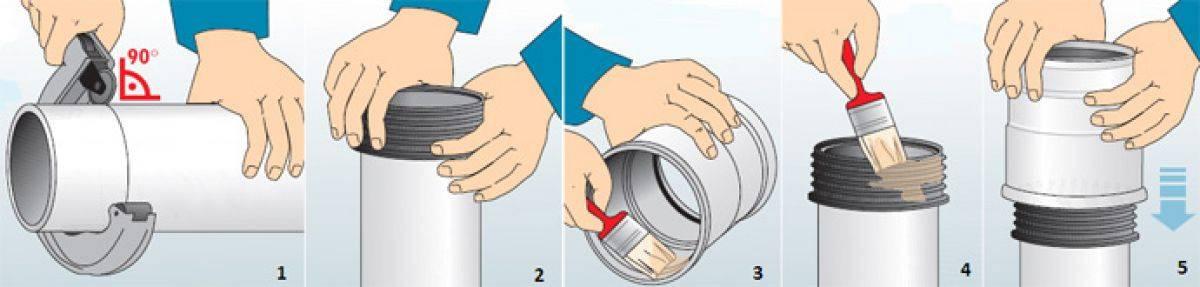 Течёт канализационная труба на стыке: чем замазать и устранить течь
