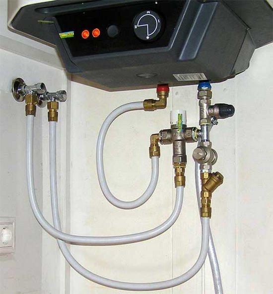 Установка проточного водонагревателя в частном доме