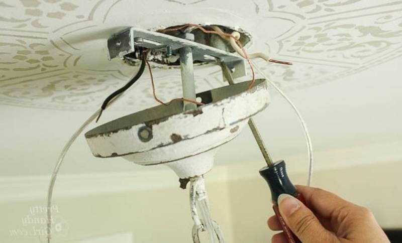 Установка люстры самостоятельно: инструкция монтажа, предостережения + нюансы установки