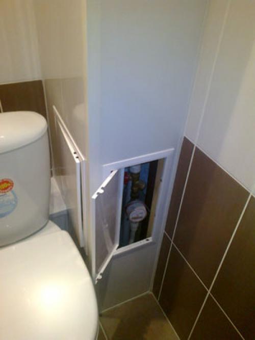 Короб в туалете - все о канализации