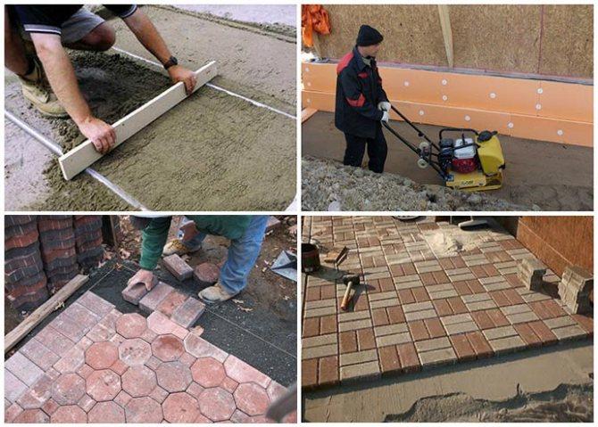 Как укладывать тротуарную плитку: пошаговая инструкция +75 фото