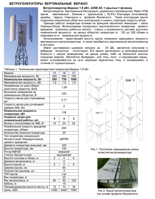 О расчете мощности ветрогенератора