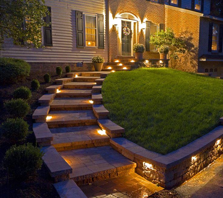 Современное фасадное освещение дома: 120 фото современных проектов, принципы размещения светильников и способы реализации светодизайна