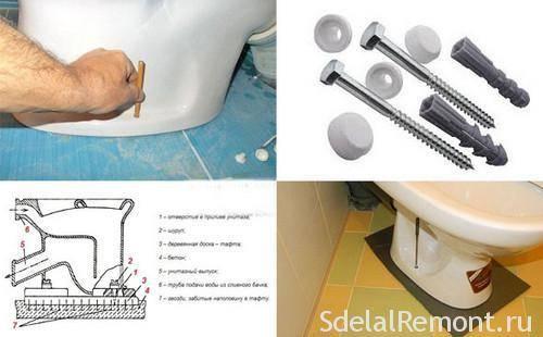 Крепление для унитаза: как закрепить на кафельном полу из плитки без сверления, чтобы не шатался, выбор крепежа, как правильно крепится
