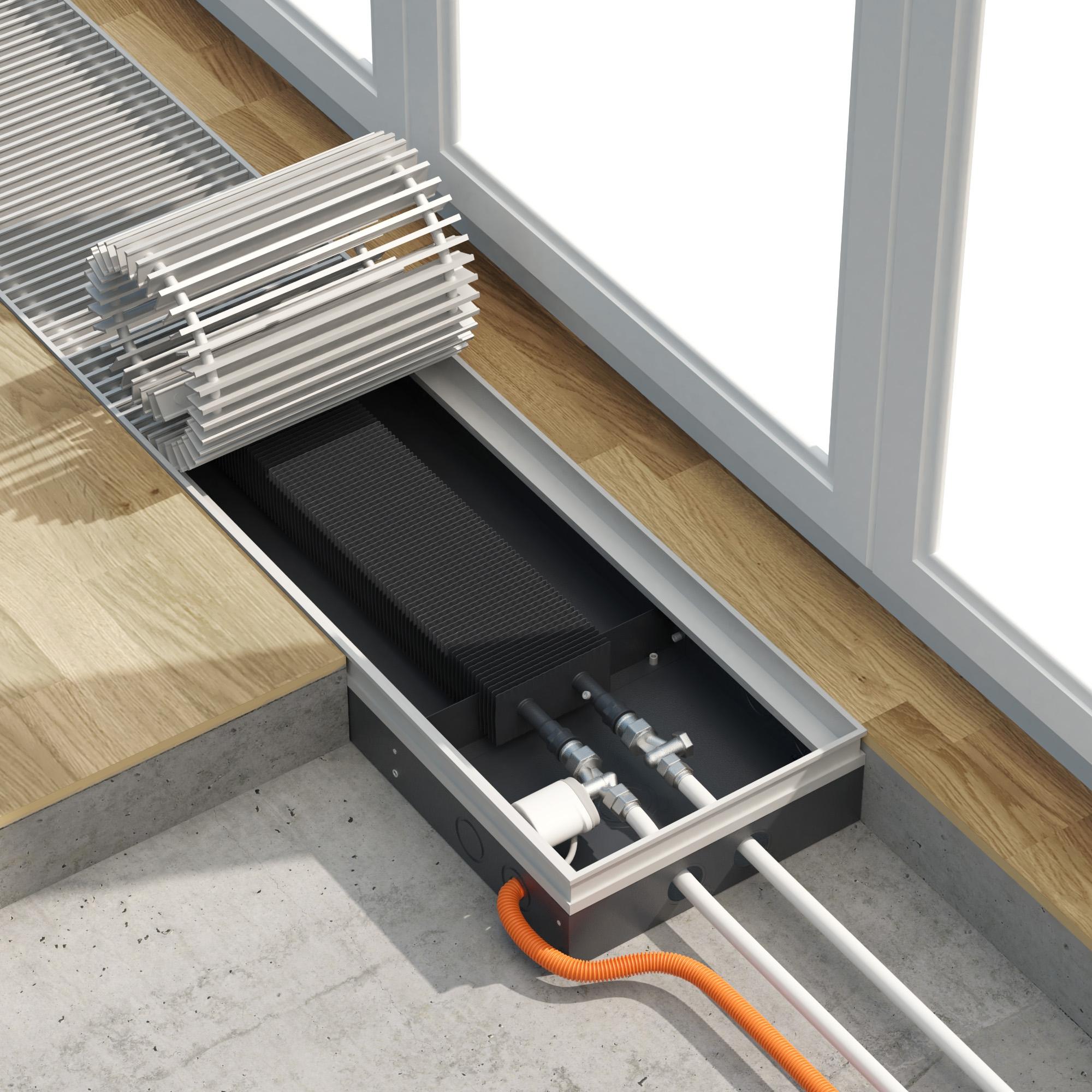 Как выбрать напольный радиатор отопления