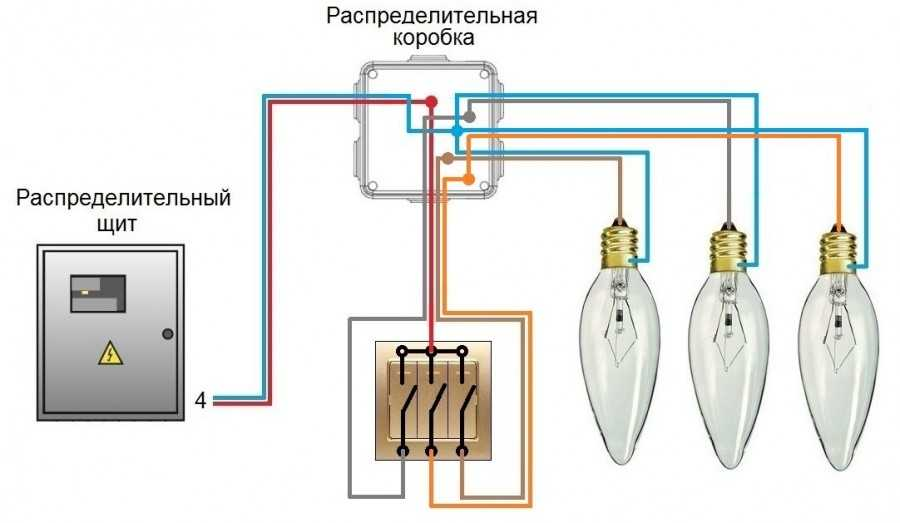 Инструкция по подключению трехклавишного выключателя своими руками