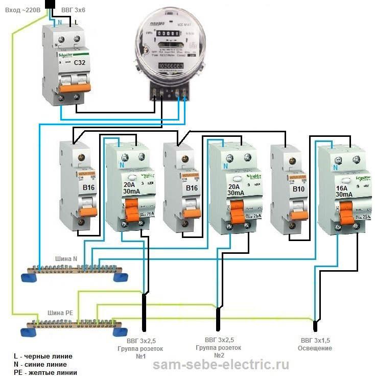 Как подключить однофазный счетчик электроэнергии: необходимые материалы и порядок действий, схема подключения