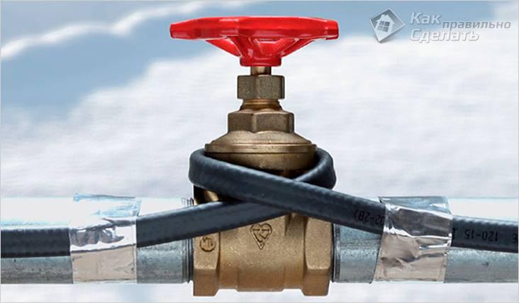 Как отогреть замерзший водопровод