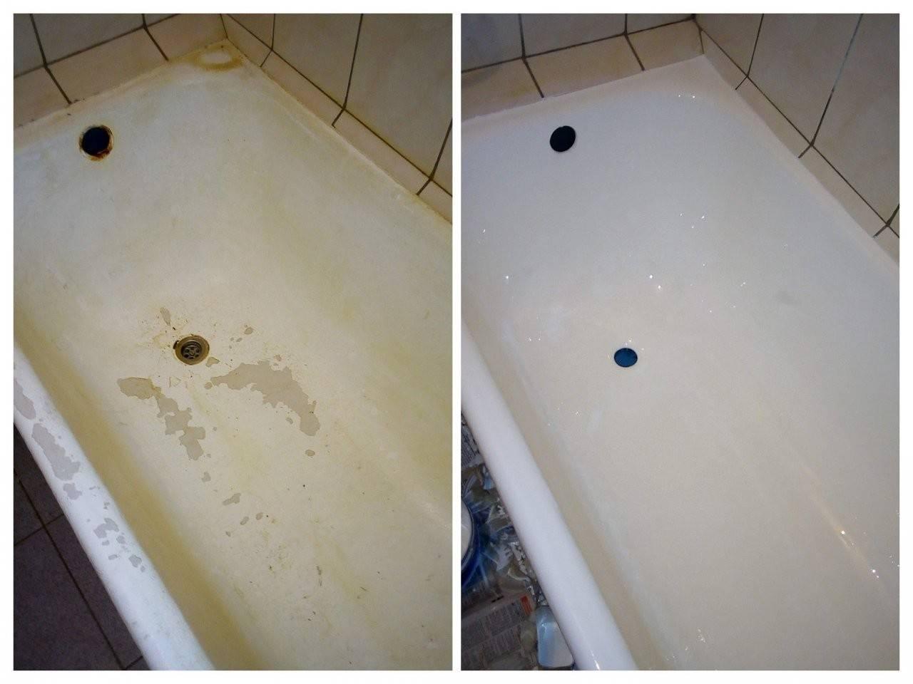 Реставрация металлической ванны: восстановление эмали стальной ванны