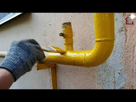 Варианты чем можно красить газовую трубу, требования к цвету