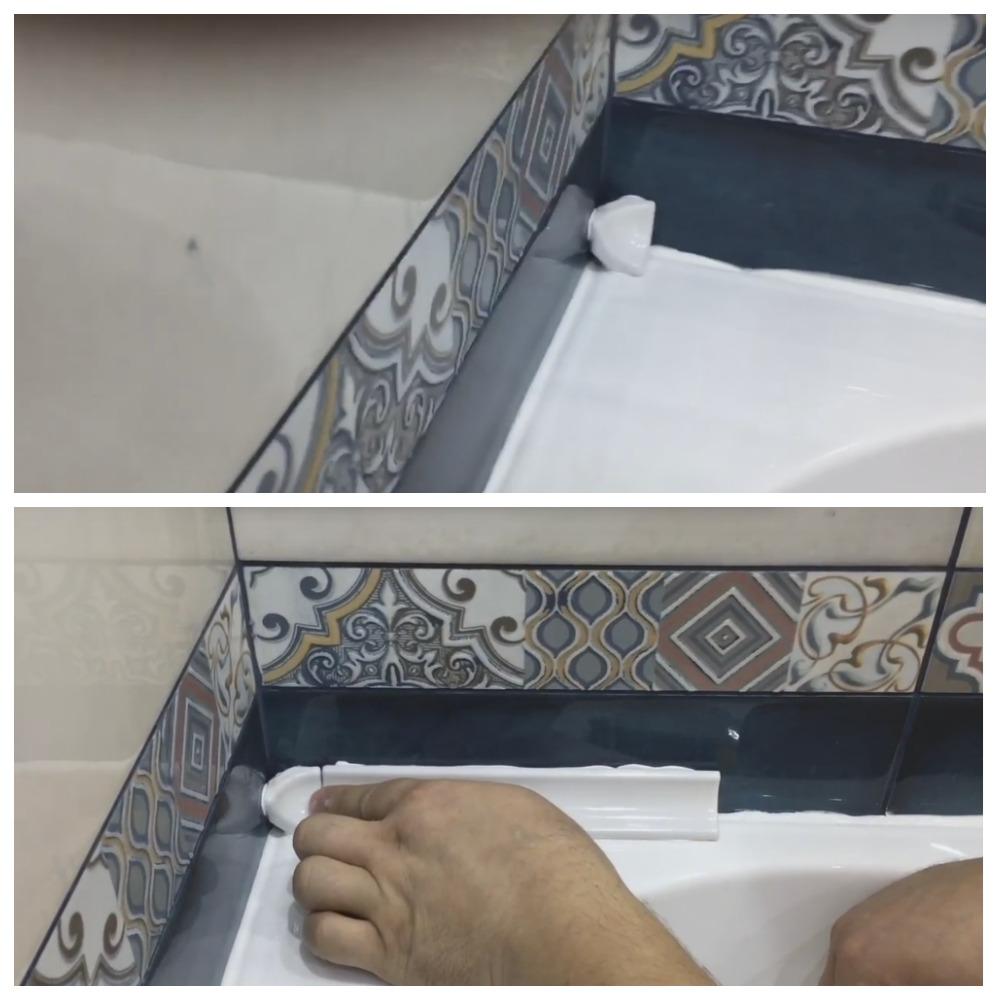 Как приклеить керамический бордюр на ванну: выбор клея, инструкция