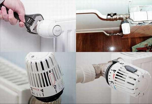 Выбор и монтаж термоголовки для радиатора отопления