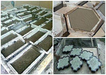 Как сделать тротуарную плитку в домашних условиях