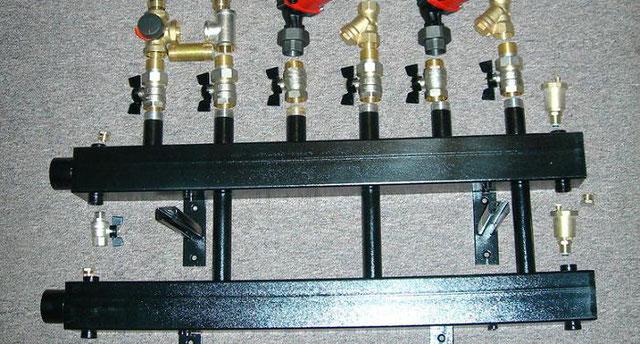 Распределительный коллектор в системе отопления и установка своими руками