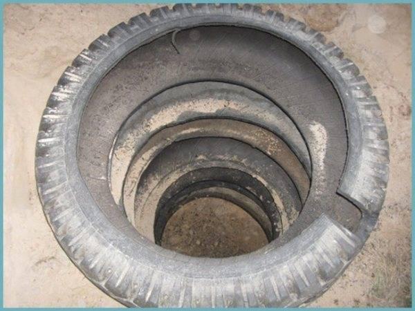 Как делается выгребная яма из покрышек — описание конструкции и технологии ее устройства