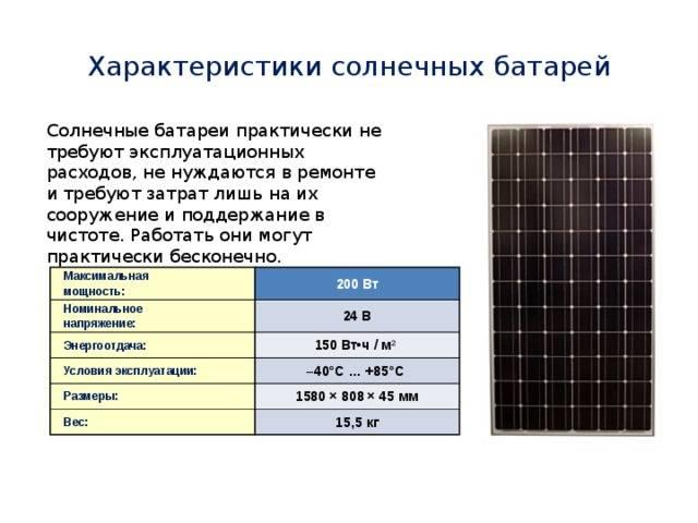 Окупаемость солнечных батарей и расчеты