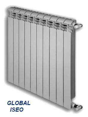 Биметалические радиаторы global style plus 500, алюминиевый радиатор vox, iseo