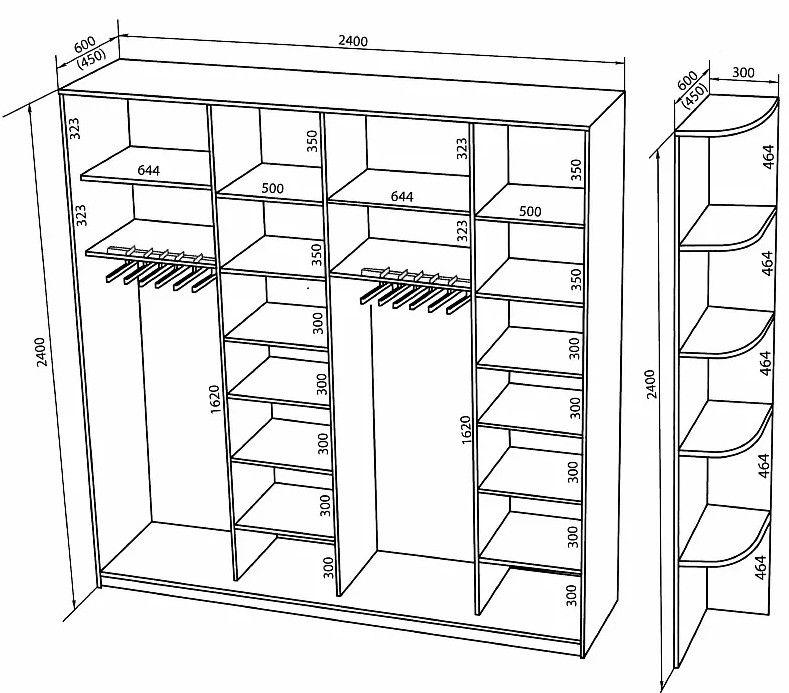 Шкаф в прихожую своими руками: чертеж, наполнение, сборка