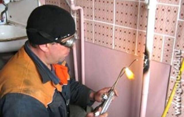 Обрезка газовой трубы в квартире - требования, инструменты