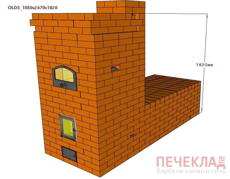 Русские печи с лежанкой своими руками: руководства по сооружению со схемами и порядовками