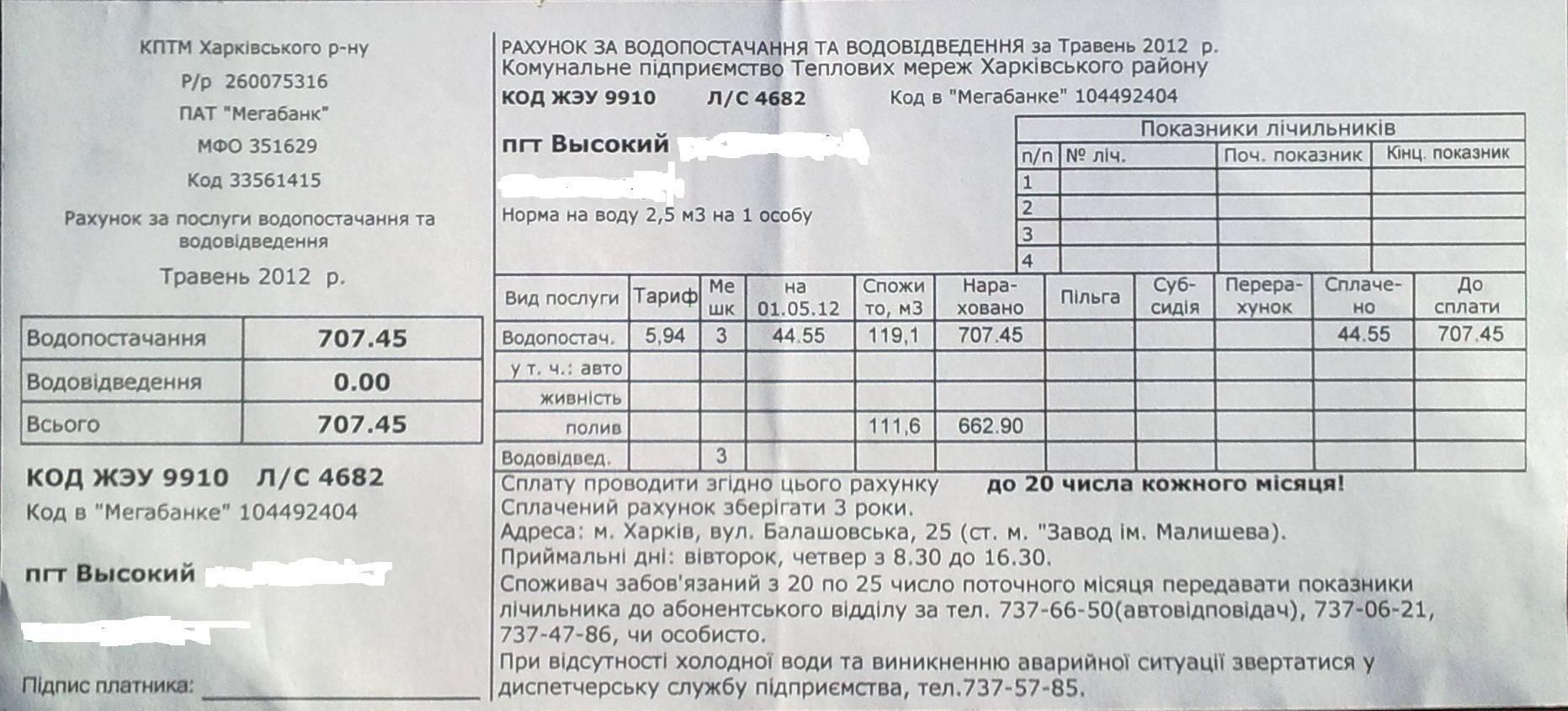 Оплата по счетчику воды: тарифы, принцип начисления счетов