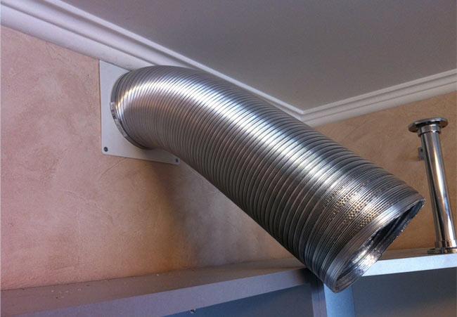 Гофра для вытяжки: виды соединений с вентиляционным каналом кухни, материал и диаметр труб, тонкости монтажа