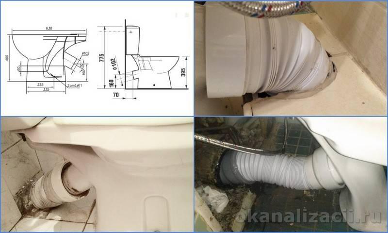 Соединение унитаза с канализационной трубой