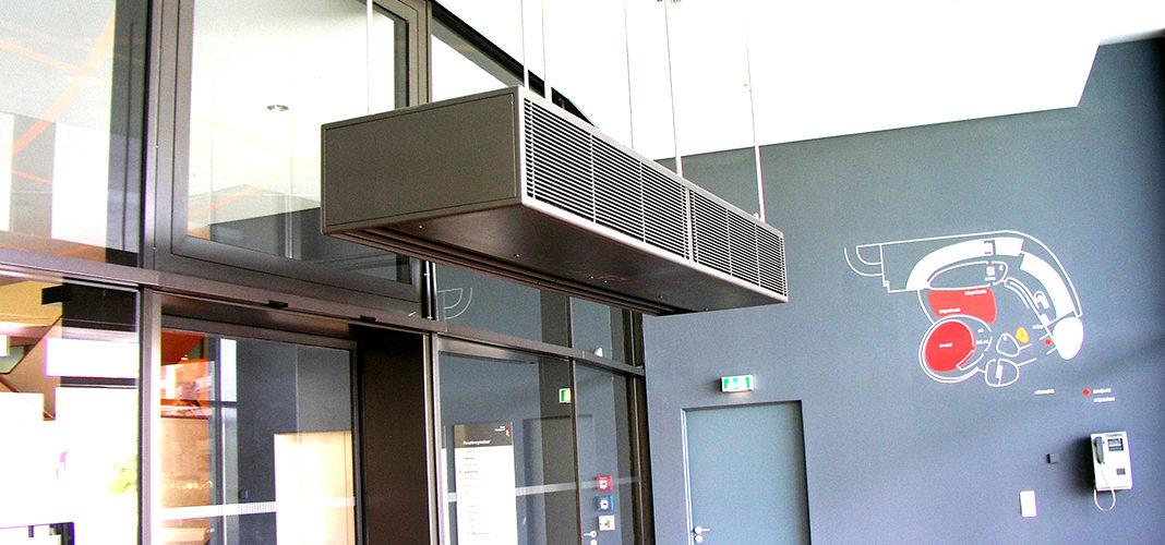 Тепловая завеса на входную дверь в помещение