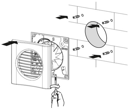 Снимаем и вешаем вентилятор в ванной и туалете