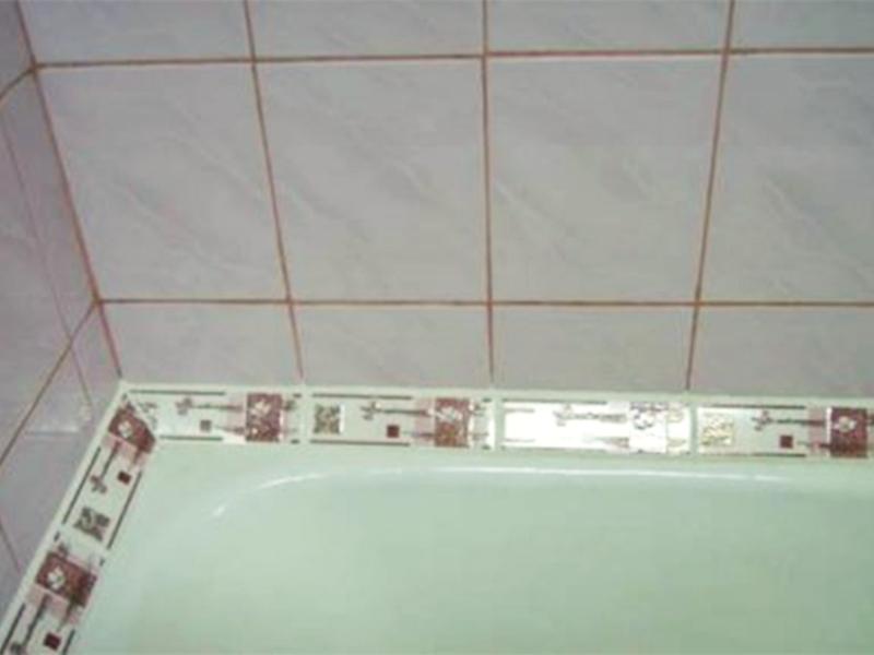 Как приклеить бордюр в ванной: быстро и качественно