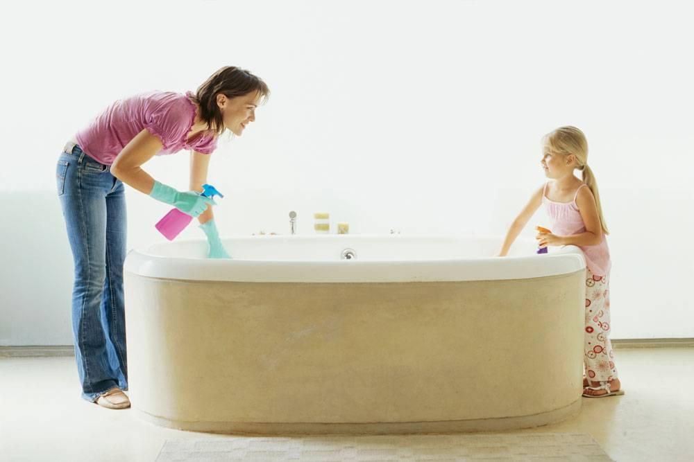 Отмыть чугунную ванну: средства и народные методы