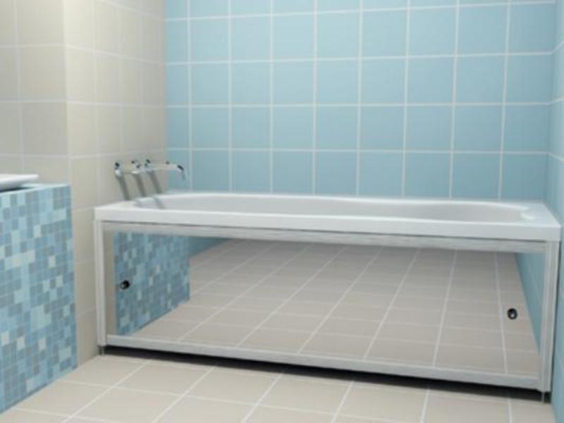 Зеркальный экран под ванну