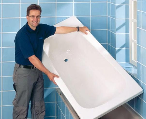 Акриловый вкладыш для ванны: виды, выбор и установка