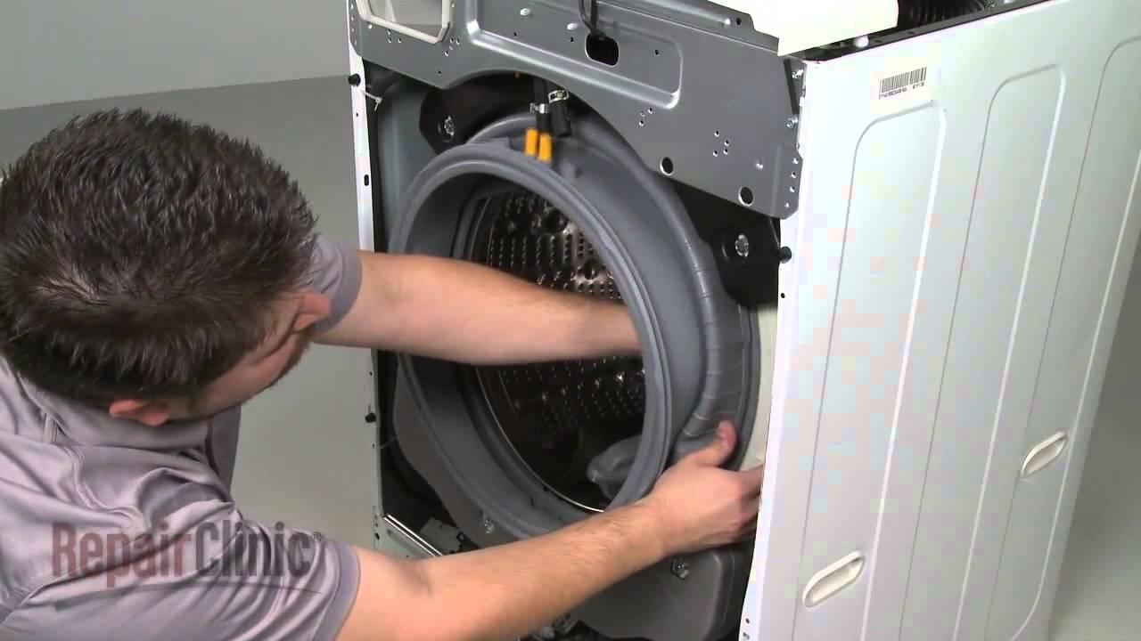Замена манжеты загрузочного люка на стиральной машине