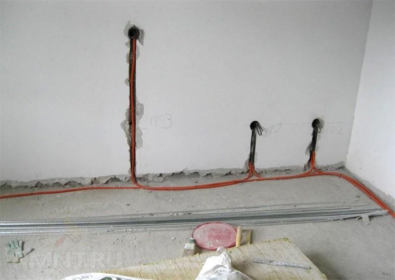 Штробление стен под проводку специалистом – залог спокойствия в доме!
