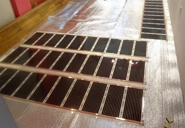 Пленочный инфракрасный теплый пол: обзор системы и технология монтажных работ