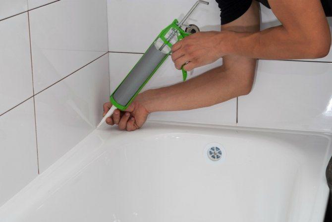 Заделка швов между ванной и плиткой: пошаговая инструкция по герметизации швов в ванной комнате