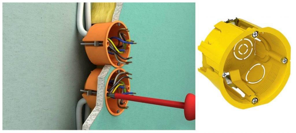 Особенности выбора и монтажа - коробка установочная в гипсокартон