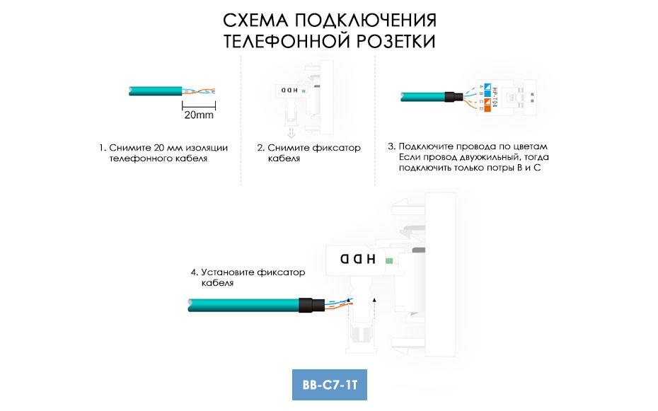 Как подключить телефонную розетку: виды, схема подключения, популярные модели розеток