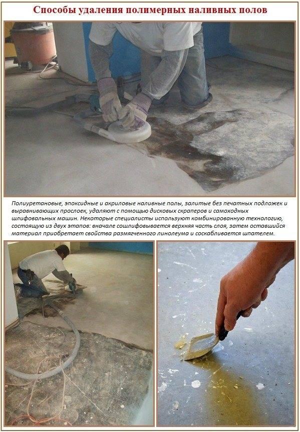 Как убрать наливной пол: технология капитального и локального вариантов работ