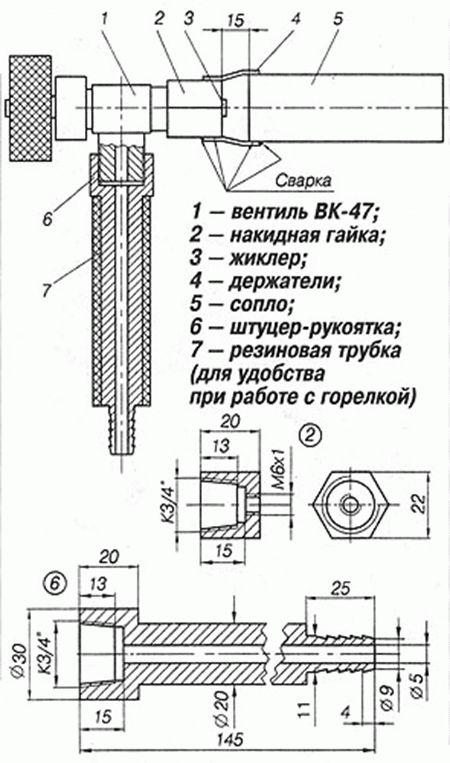 Газовые горелки для пайки своими руками - инструкция по изготовлению