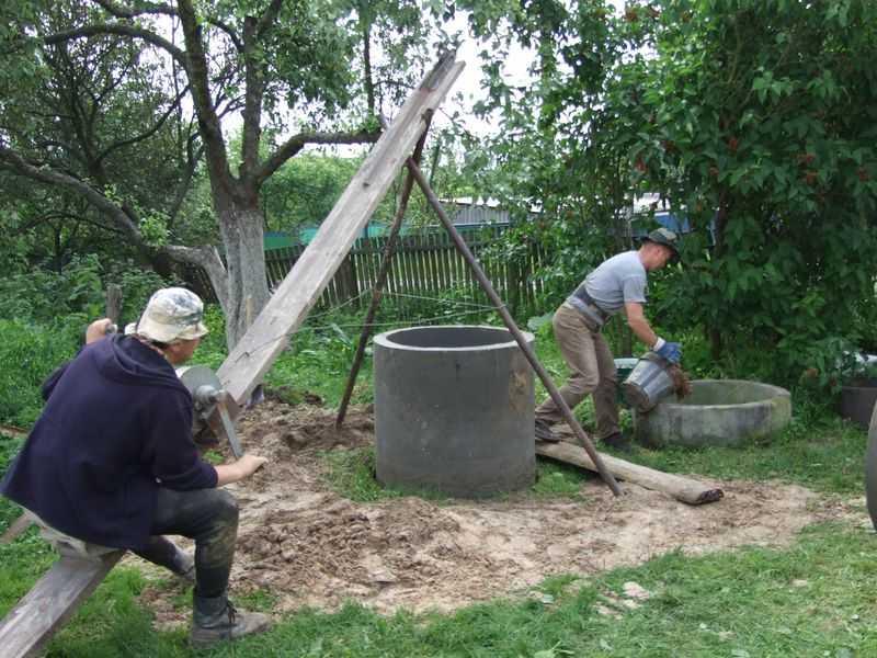 Копка колодцев: как выкопать колодец, рытье колодца на даче своими руками - точка j