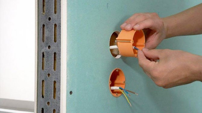 Как установить розетку или подрозетник в гипсокартоне
