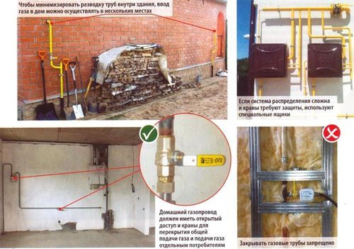 Разводка газовых труб внутри дома – отвественная операция требующая знания норм безопасности