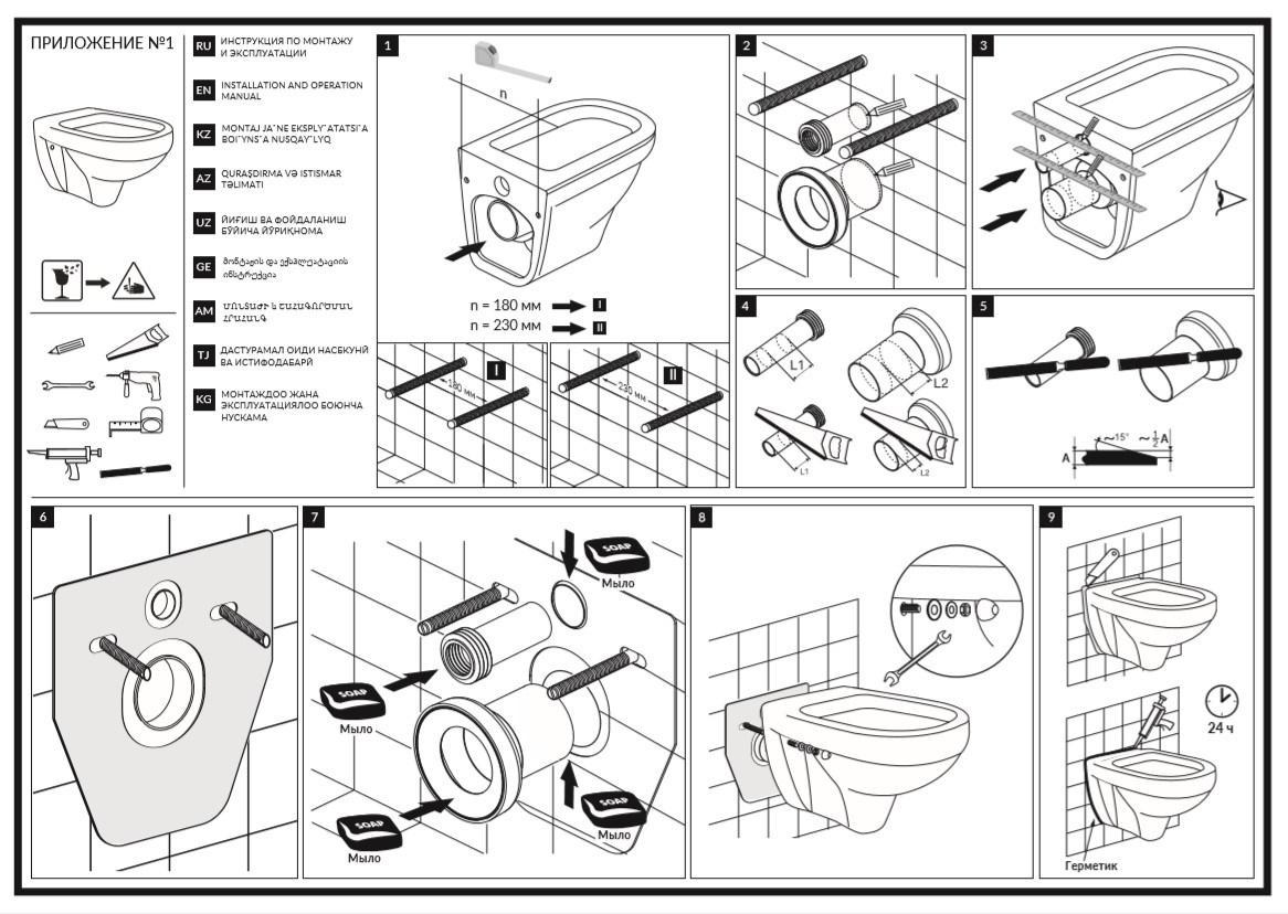 Как установить унитаз - пошаговая инструкция по монтажу