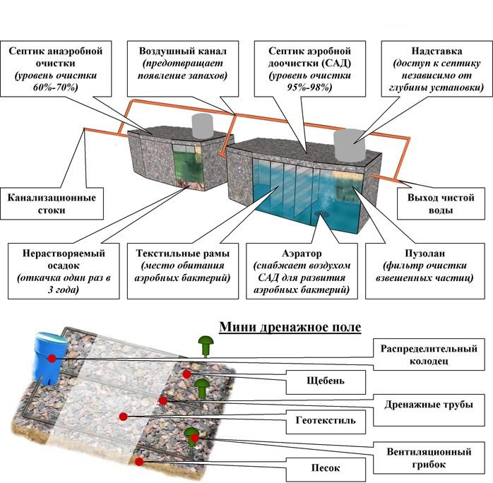 Анаэробные и аэробные бактерии для септиков: разбираемся в правилах переработки стоков