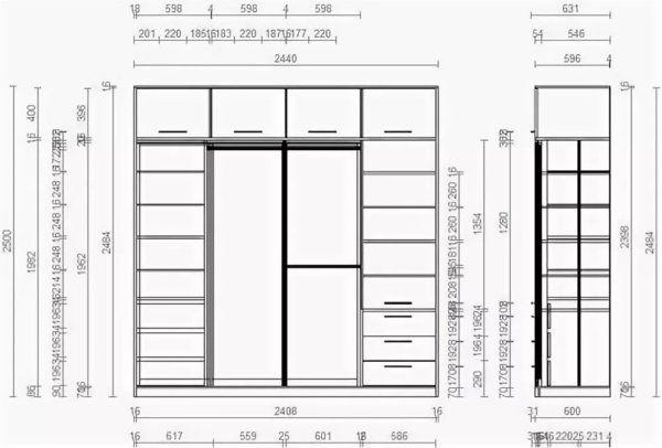 Угловой шкаф на балкон: порядок изготовления каркаса, обшивка, регулировка дверей и фурнитуры