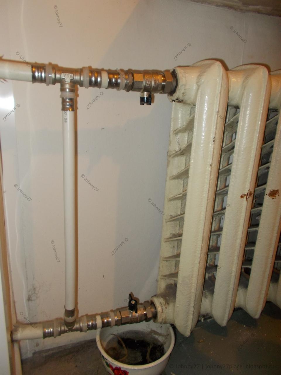 Как перекрыть батарею и стояк отопления в квартире и доме