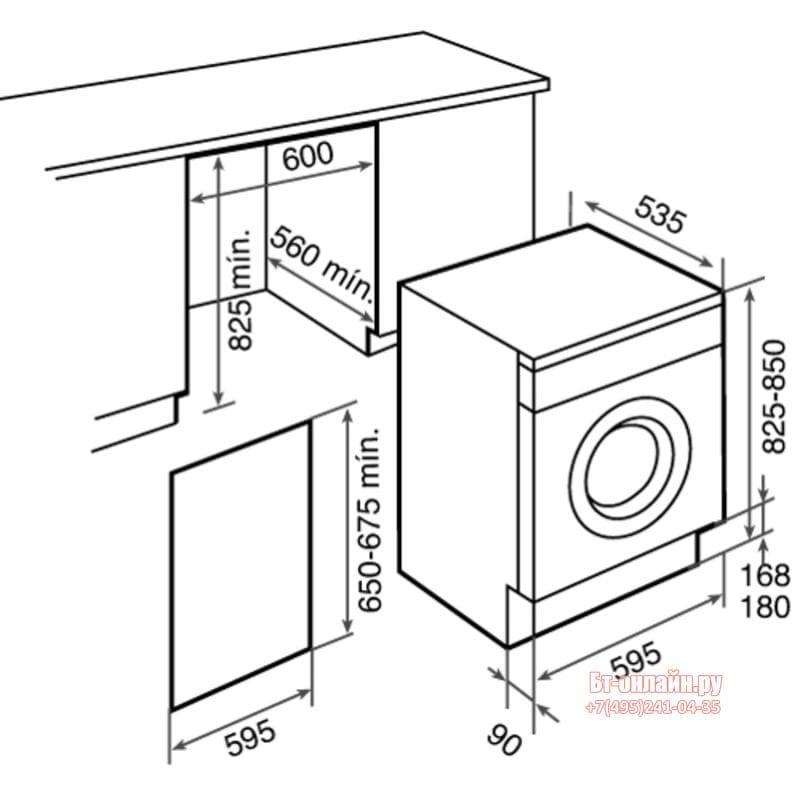 Выбор стиральных машин автоматов по их размерам
