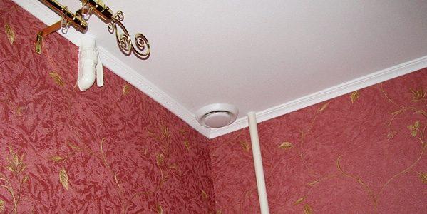 Вентиляция в натяжном потолке: инструкция, монтаж в ванной